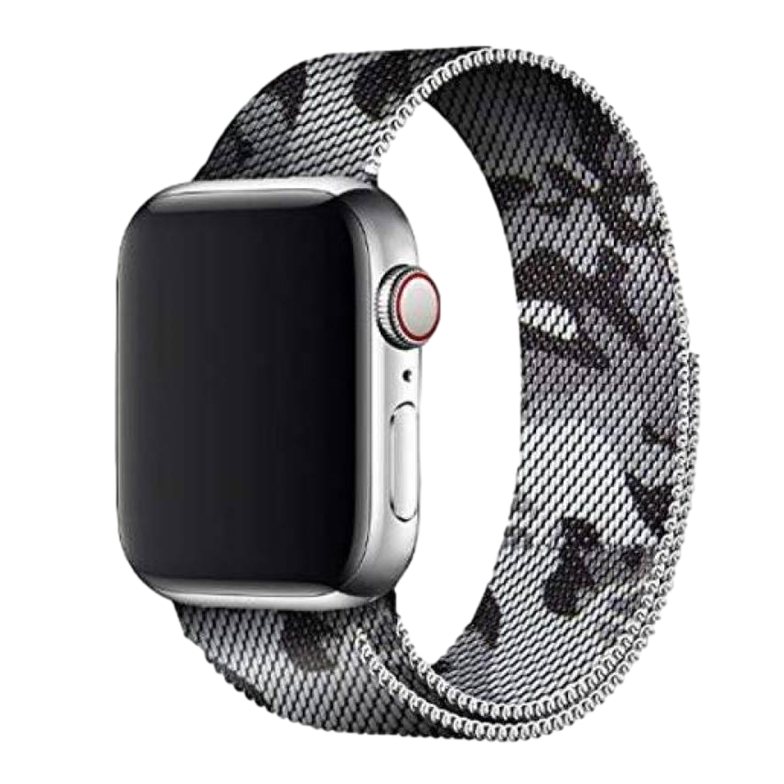 Stainless Steel Strap Band with Magnetic Closure for Apple Watch 42mm / 44mm - Grey