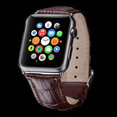 Leather Watch Strap for Apple Watch - Dark Brown