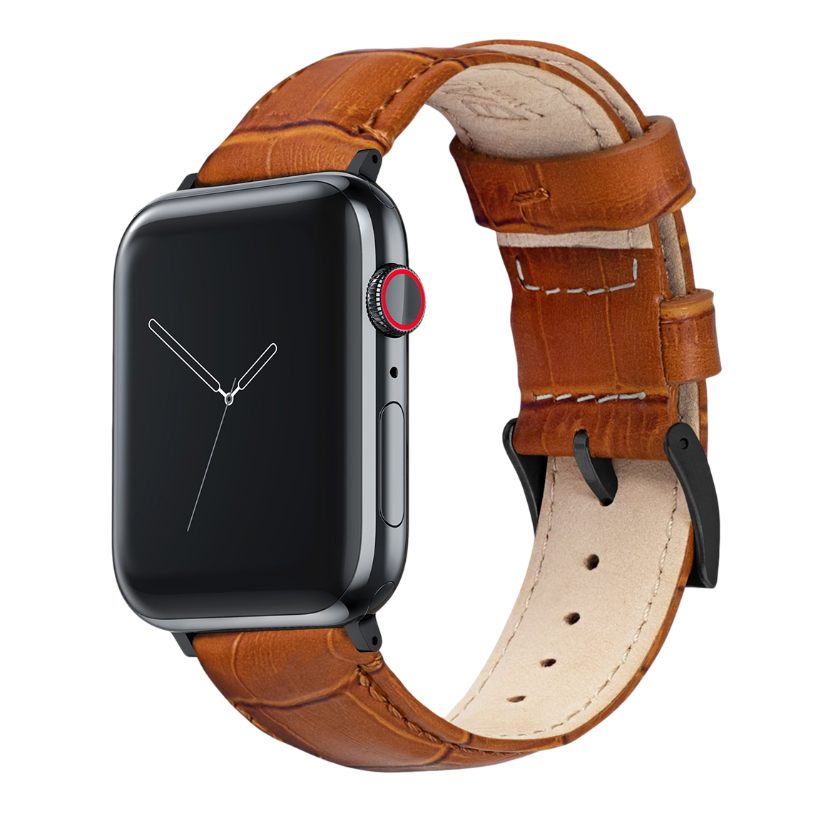 Leather Watch Strap for Apple Watch - Brown