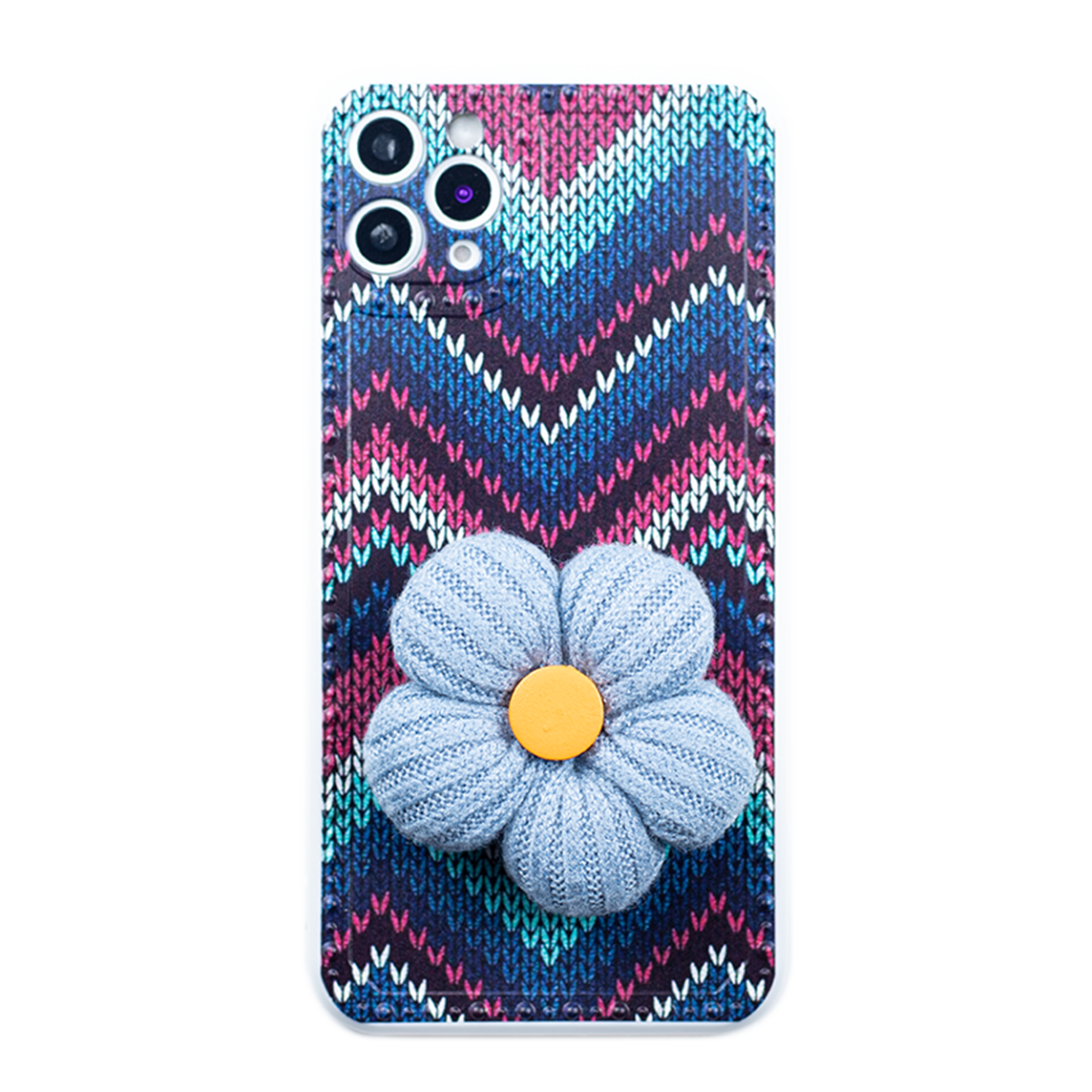 Sewing Knitting Crochet Textile Case With Flower PopSocket