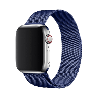 Stainless Steel Strap Band with Magnetic Closure for Apple Watch - Dark Blue