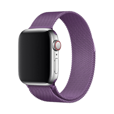 Stainless Steel Strap Band with Magnetic Closure for Apple Watch 42mm / 44mm - Purple