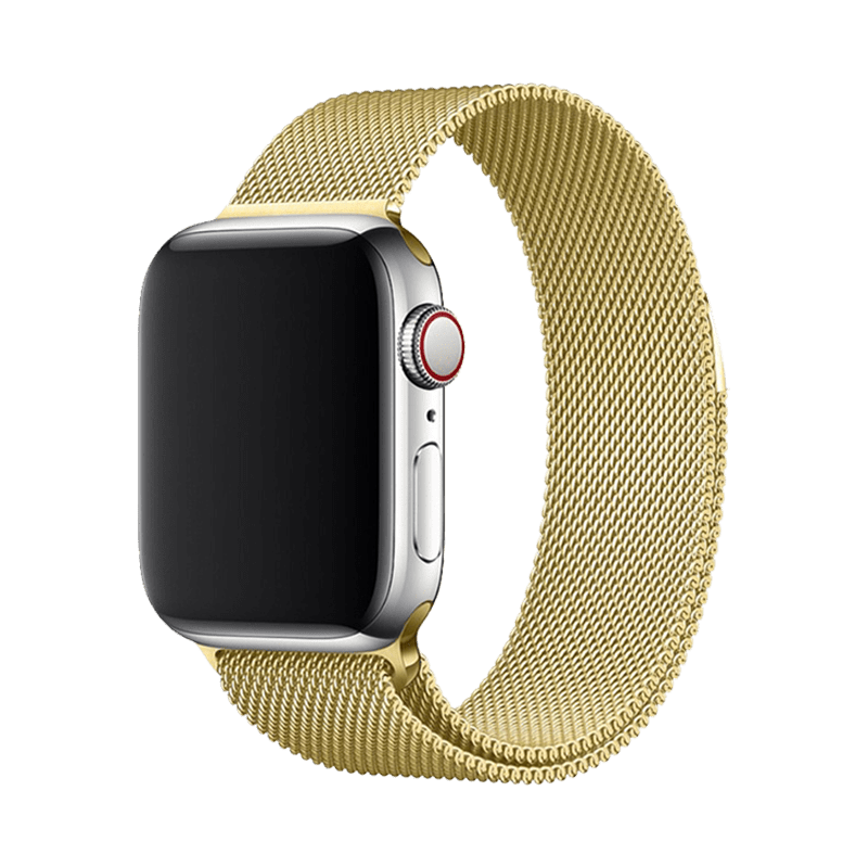 Stainless Steel Strap Band with Magnetic Closure for Apple Watch 42mm / 44mm - Gold