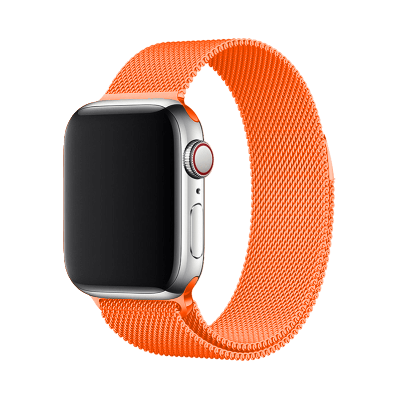 Stainless Steel Strap Band with Magnetic Closure for Apple Watch 42mm / 44mm - Orange