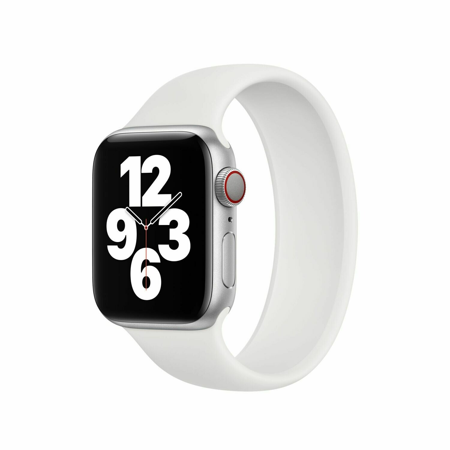Liquid Silicone Rubber Solo Loop For Apple Watch 42mm / 44mm - White
