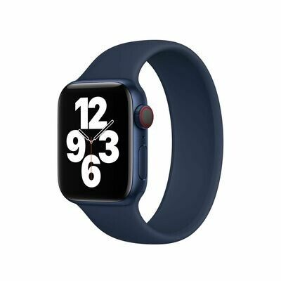 Liquid Silicone Rubber Solo Loop For Apple Watch 42mm / 44mm - Deep Navy