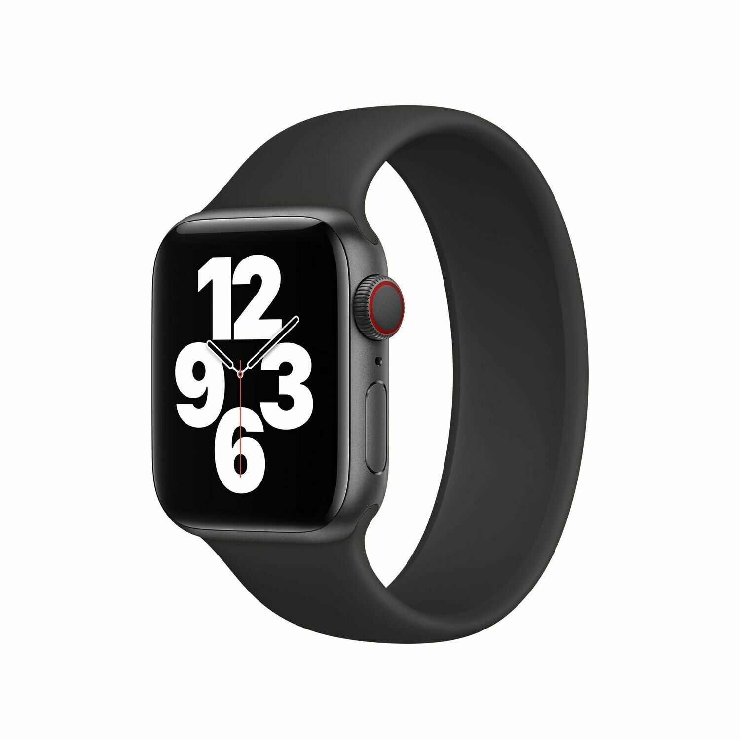 Liquid Silicone Rubber Solo Loop For Apple Watch 42mm / 44mm - Black