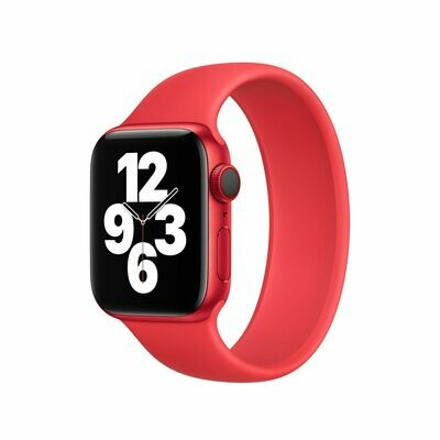 Liquid Silicone Rubber Solo Loop For Apple Watch 42mm / 44mm - Red