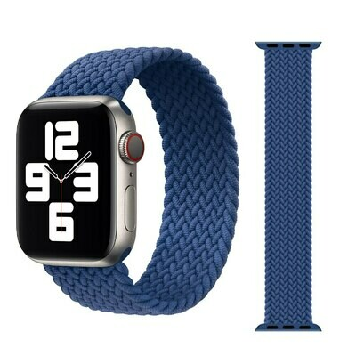 Woven Braided Solo Loop For Apple Watch 42mm / 44mm - Blue