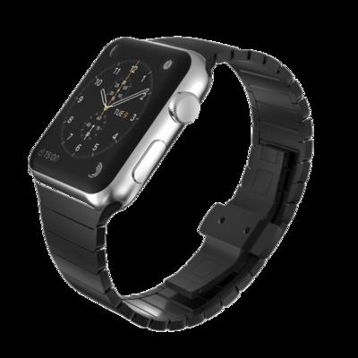 Solid Stainless Steel Bracelet for Apple Watch 42mm / 44mm - Black