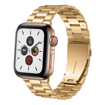 Solid Stainless Steel Band for Apple Watch 42mm / 44mm - Gold