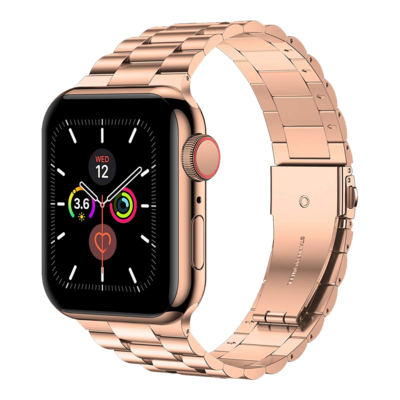 Solid Stainless Steel Band for Apple Watch 42mm / 44mm - Rose Gold