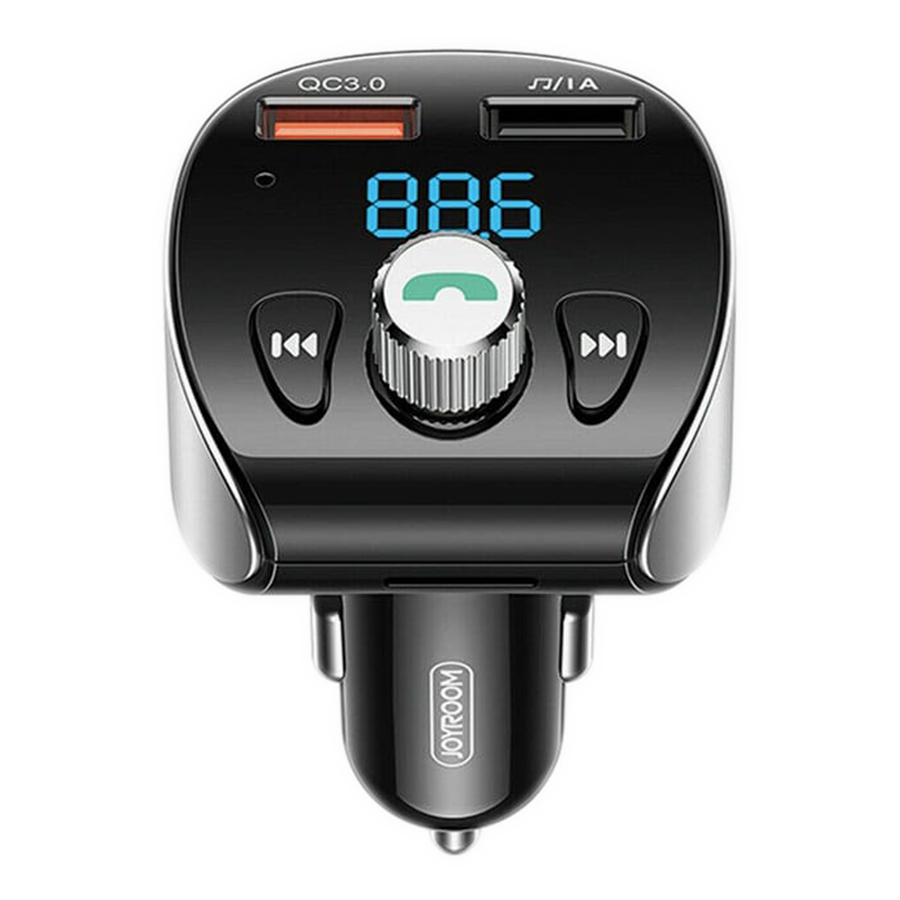 Joyroom Bluetooth Car Kit with FM Transmitter and USB QC3.0 Charging