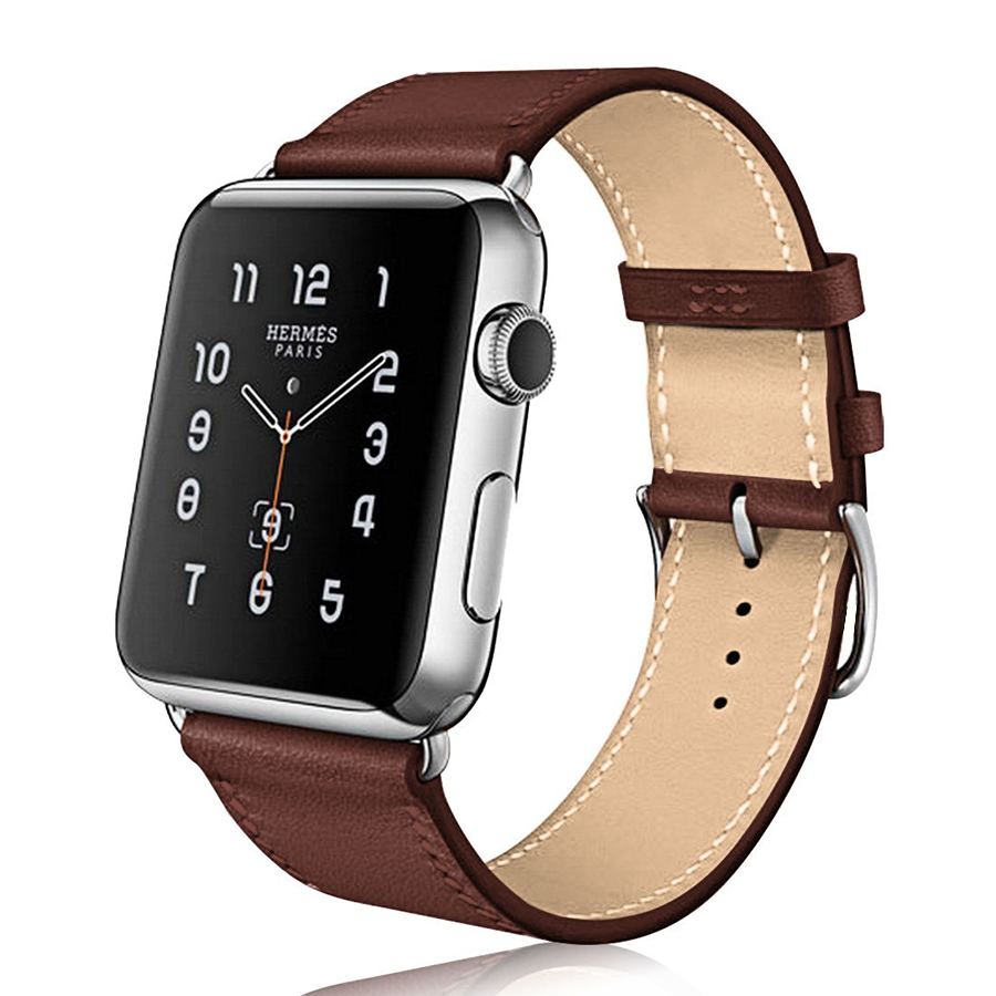 Leather Strap Band for Apple Watch - Brown