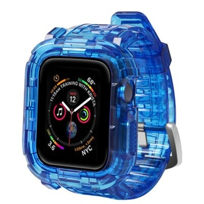 TPU Smart Band with Cover for Apple Watch - Blue