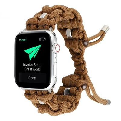 Nylon Woven Paracord Strap for Apple Watch - Brown