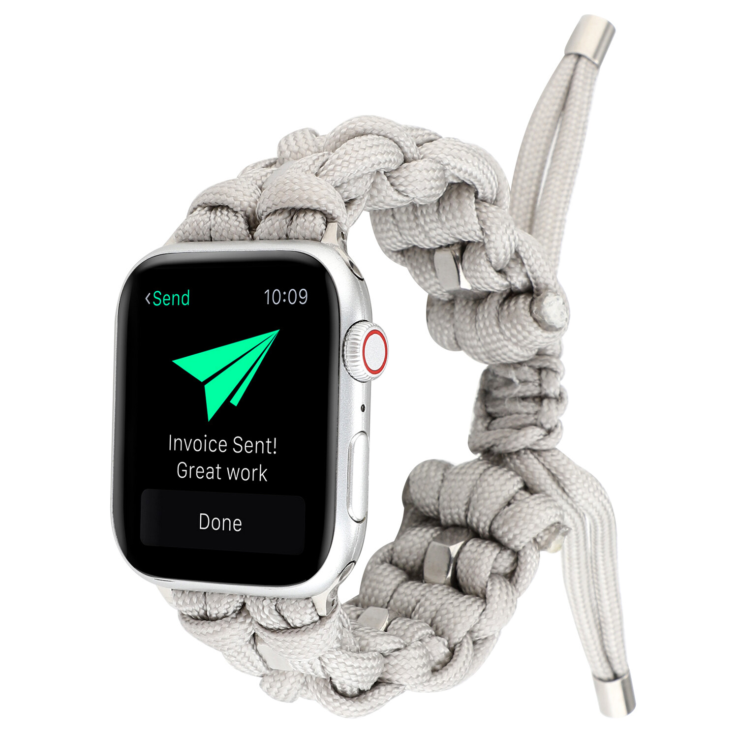 Nylon Woven Paracord Strap for Apple Watch - Off-White
