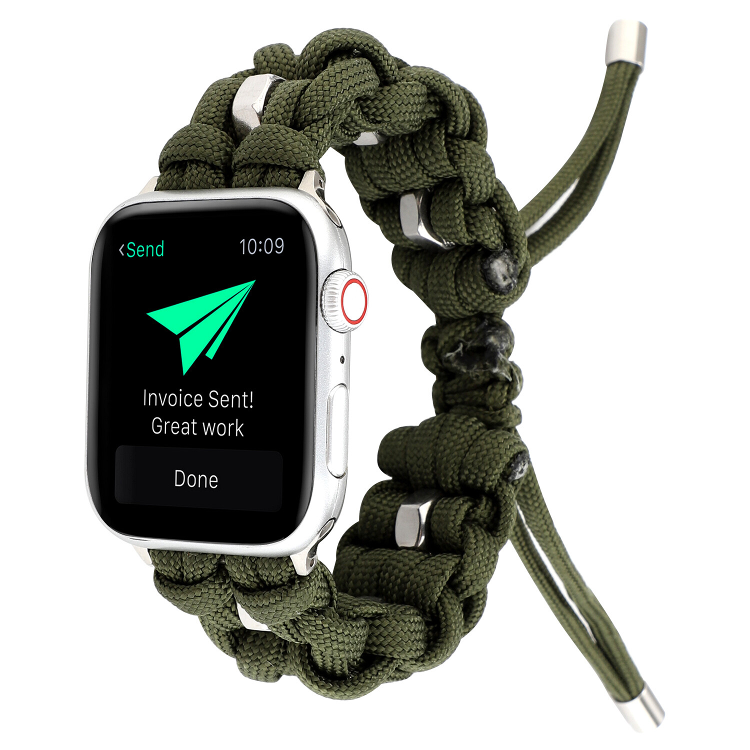 Nylon Woven Paracord Strap for Apple Watch - Green