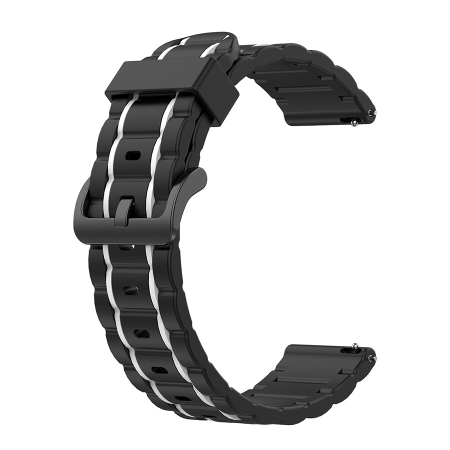 Sports Silicone Band for Apple Watch - Black x White
