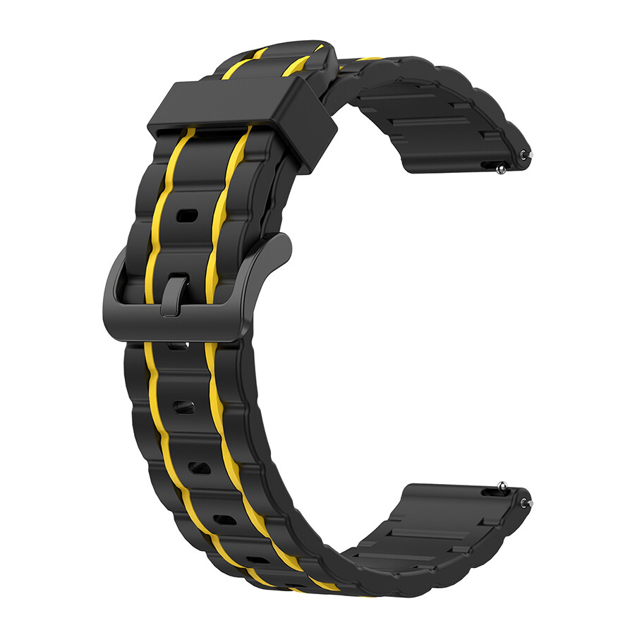 Sports Silicone Band for Apple Watch - Black x Yellow