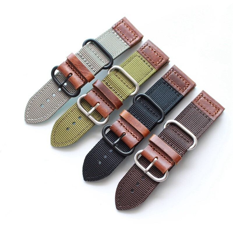 New Classic Nylon Leather Strap for Apple Watch