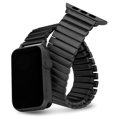 Elastic Stainless Steel Watch Band - Black