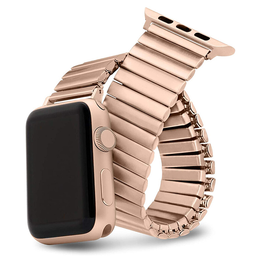 Elastic Stainless Steel Watch Band - Rose Gold