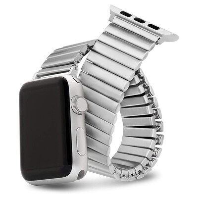 Elastic Stainless Steel Watch Band - Silver