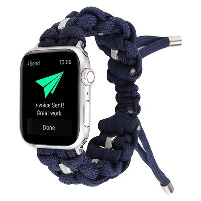 Nylon Woven Paracord Strap for Apple Watch - Blue