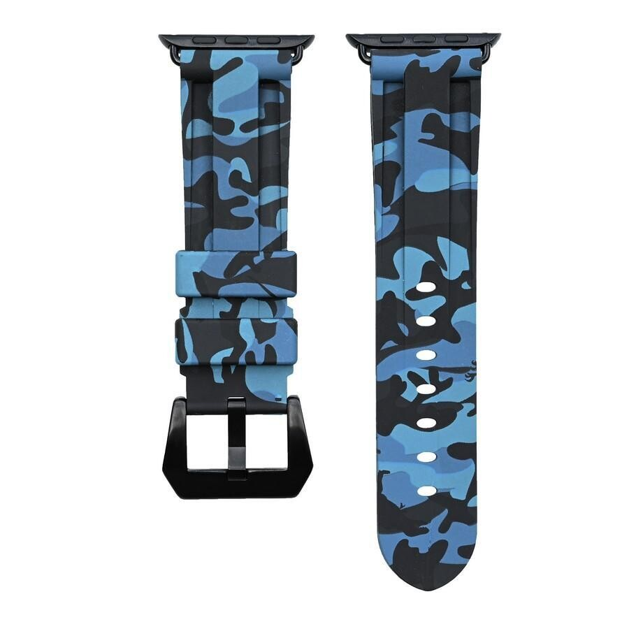 CAMO Rubber Strap for Apple Watch - Blue