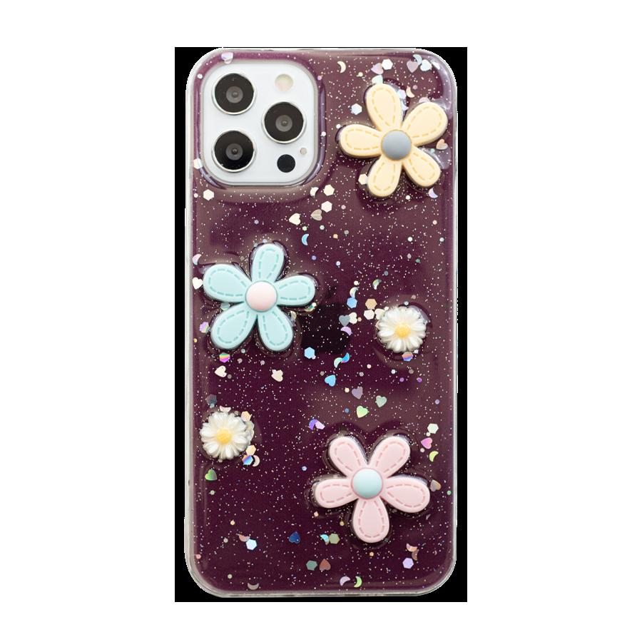 3D Flowers Clear Case