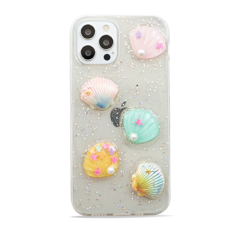 Cute Pearls & Shells Clear Case