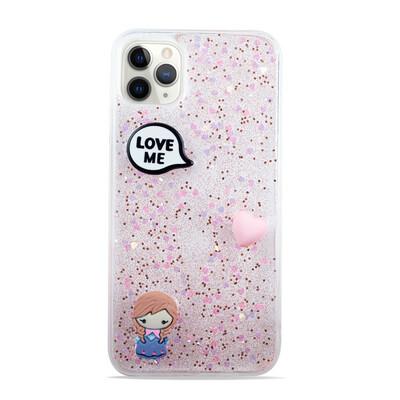 Cute Glitter Clear Case