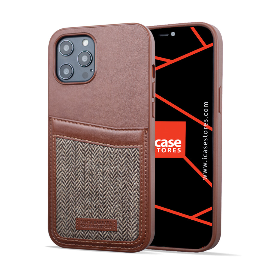 Fabric and Genuine Leather Case