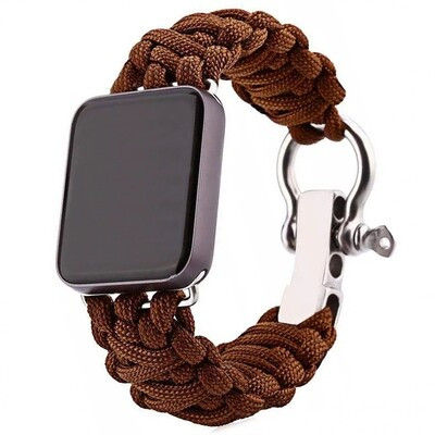 Nylon Woven Survival Strap for Apple Watch - Brown