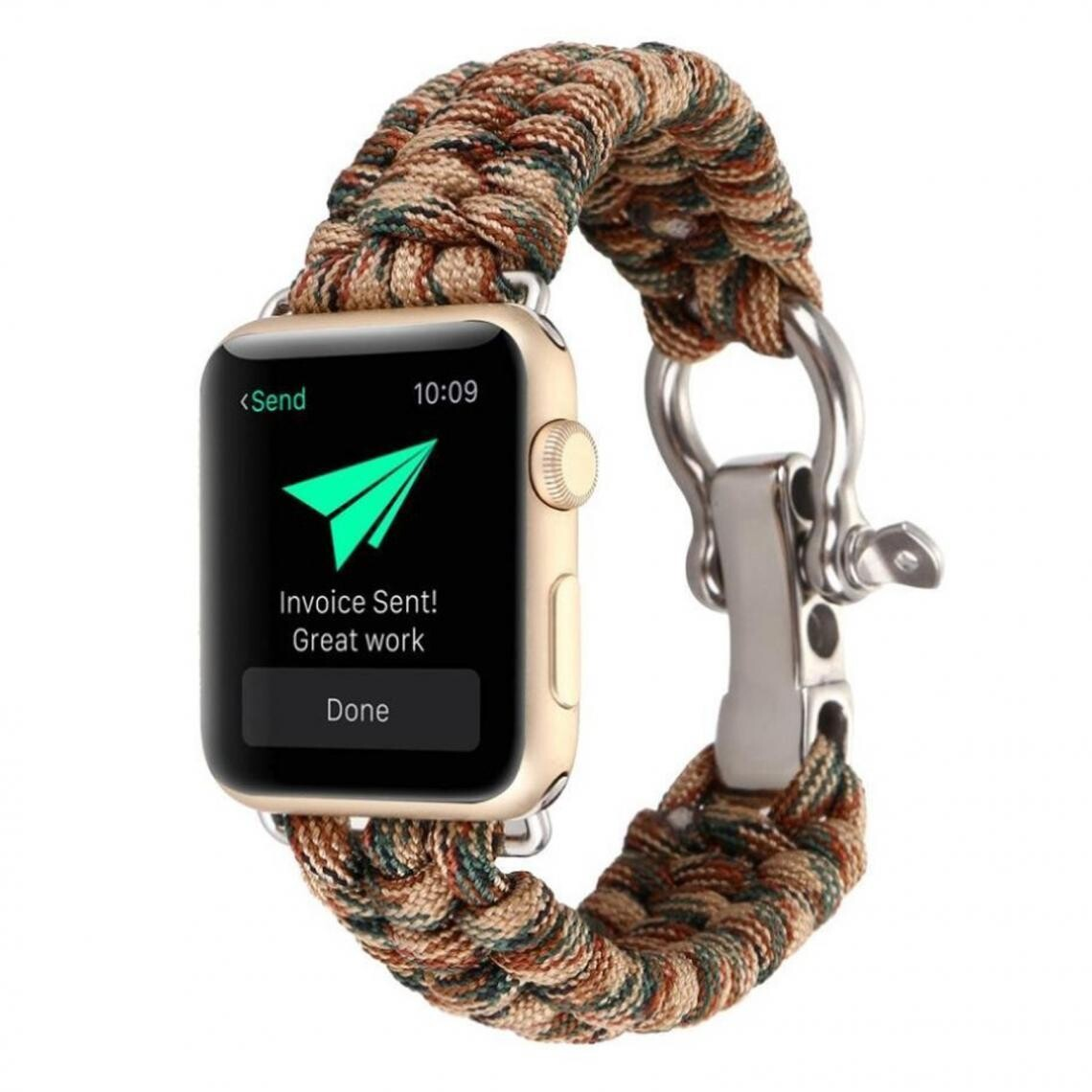 Nylon Woven Survival Strap for Apple Watch