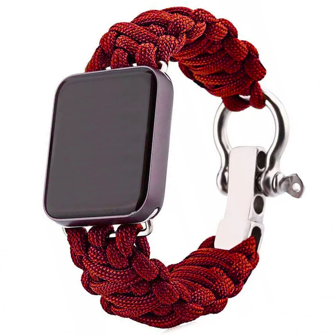 Nylon Woven Survival Strap for Apple Watch - Red