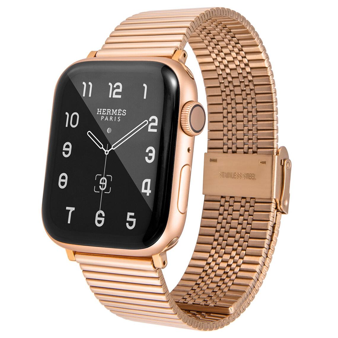 Premium Link Steel Strap for Apple Watch - Rose