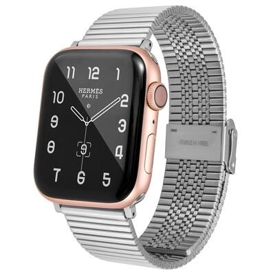 Premium Link Steel Strap for Apple Watch - Silver