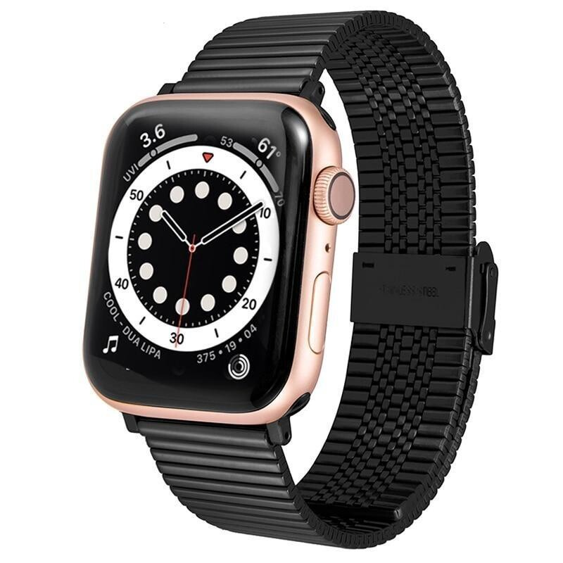 Premium Link Steel Strap for Apple Watch - Black