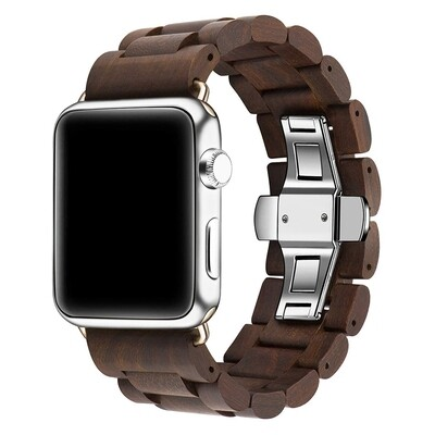 Engraved Wood Band for Apple Watch - Brown