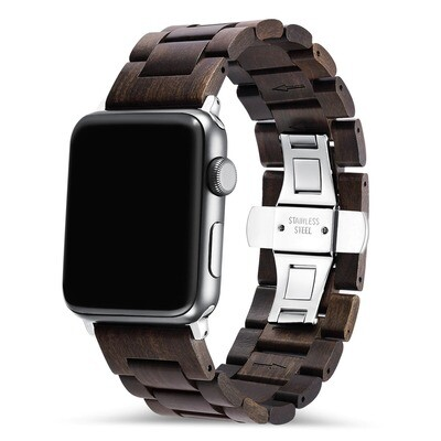 Engraved Wood Band for Apple Watch - Black