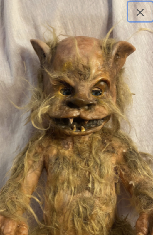 Scary baby doll werewolf halloween decor| Baby made to order- two different versions in the pictures