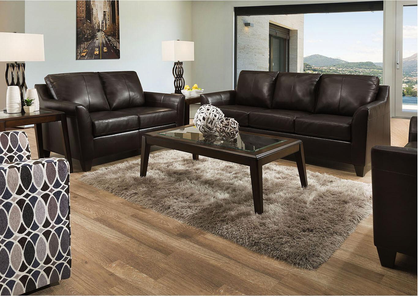 Lane Furniture Leather Bark 2Pc (Sofa + Love)
