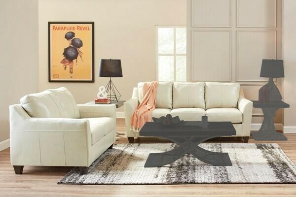 Lane Leather Cream 2Pc (Sofa + Love)