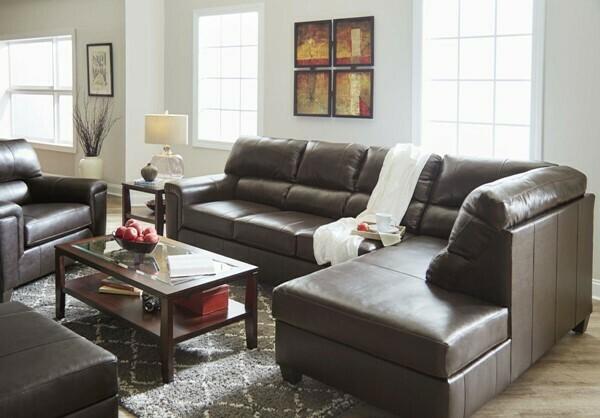 2038 Lane Furniture Leather Bark Sectional