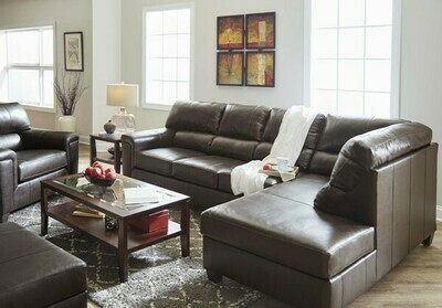2038 Lane Furniture Leather Bark Sectional