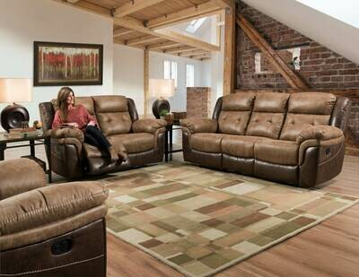 Bonanza Dual Reclining 3 Pc (Sofa + Love + Recliner)