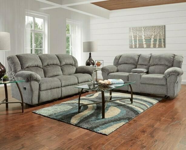 Allure Grey Motion 2 Pc (Sofa + Love)