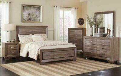 204191 Washed Taupe Queen 4Pc (Bed,Dr,Mr,Ns